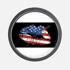 American Kiss Wall Clock