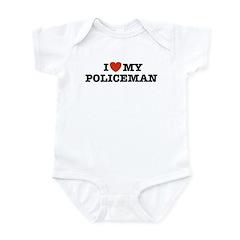 I Love My Policeman Infant Creeper