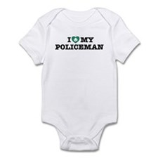 I Love My Policeman Infant Creeper
