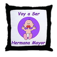 Hermana Mayor Throw Pillow