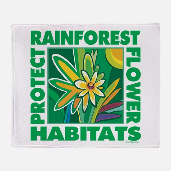 Preserve Forest Habitats Throw Blanket