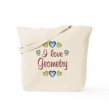 I Love Geometry Tote Bag