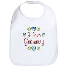 I Love Geometry Bib