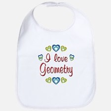 I Love Geometry Bib