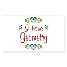I Love Geometry Decal