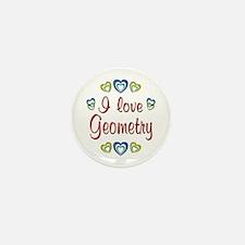 I Love Geometry Mini Button (10 pack)