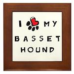 I *heart* My Basset Hound Framed Tile