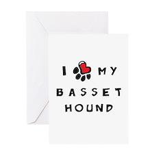 I *heart* My Basset Hound Greeting Card