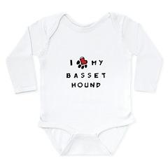 I *heart* My Basset Hound Long Sleeve Infant Bodys
