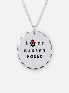 I *heart* My Basset Hound Necklace
