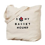 I *heart* My Basset Hound Tote Bag