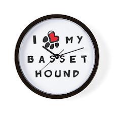 I *heart* My Basset Hound Wall Clock