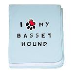 I *heart* My Basset Hound baby blanket