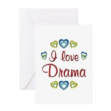 I Love Drama Greeting Card