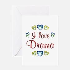 I Love Drama Greeting Card