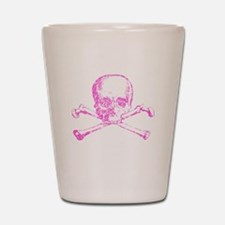 Pink Skull and Bones Shot Glass