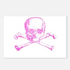 Pink Skull and Bones Postcards (Package of 8)