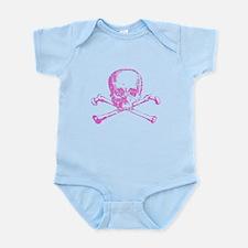 Pink Skull and Bones Infant Bodysuit