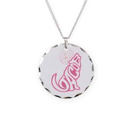 Jacob Wolf Lettering Necklace Circle Charm