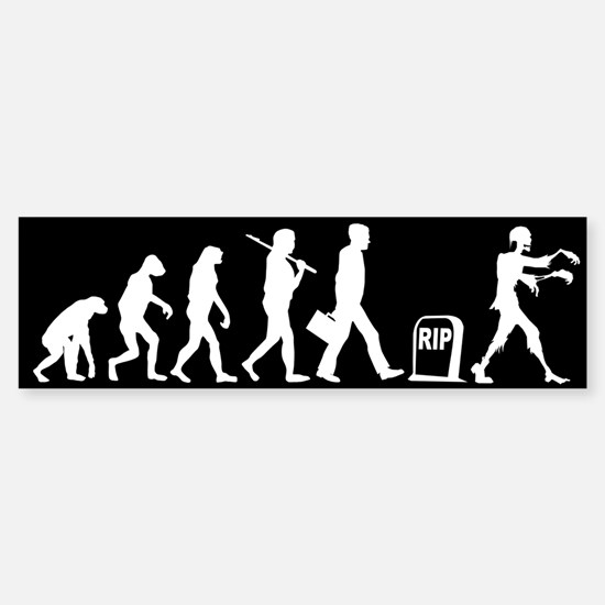 Zombie Evolution - Sticker (Bumper)