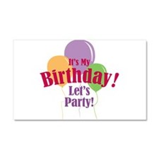 Happy Birthday Balloons Car Magnet 20 x 12