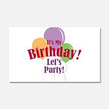 Happy Birthday Balloons Car Magnet 20 x 12