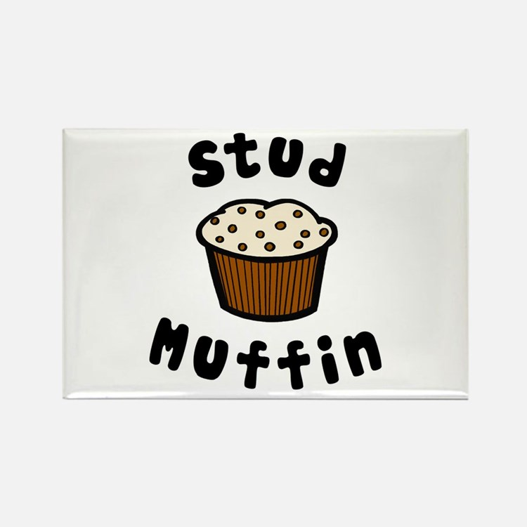 'Stud Muffin' Rectangle Magnet