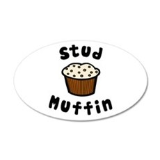 'Stud Muffin' 22x14 Oval Wall Peel