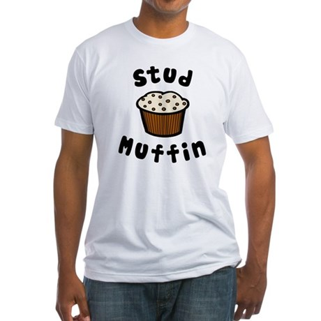 'Stud Muffin' Fitted T-Shirt