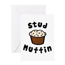 'Stud Muffin' Greeting Card