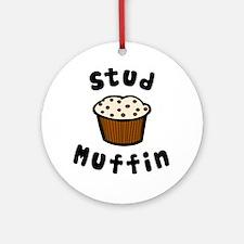 'Stud Muffin' Ornament (Round)