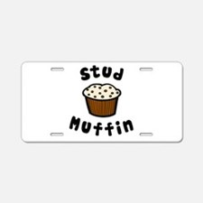 'Stud Muffin' Aluminum License Plate