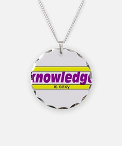Knowledge is sexy Necklace Circle Charm