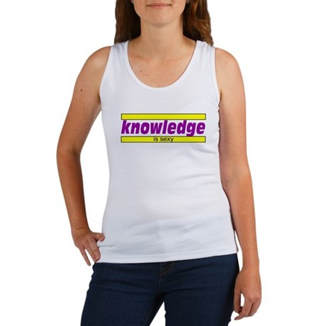 Knowledge is sexy Women's Tank Top