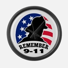 9-11-2001 Large Wall Clock