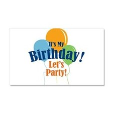 Birthday Party Balloons Car Magnet 20 x 12