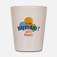 Birthday Party Balloons Shot Glass