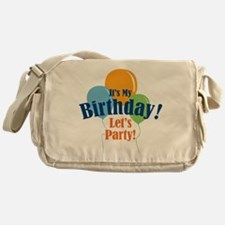 Birthday Party Balloons Messenger Bag