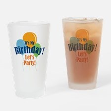 Birthday Party Balloons Drinking Glass