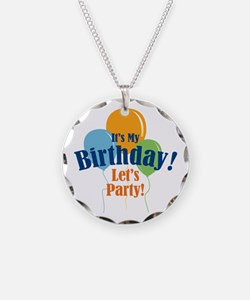 Birthday Party Balloons Necklace