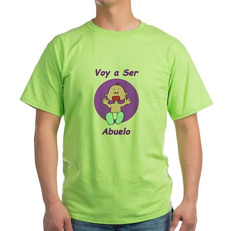 Voy a Ser Abuelo Green T-Shirt