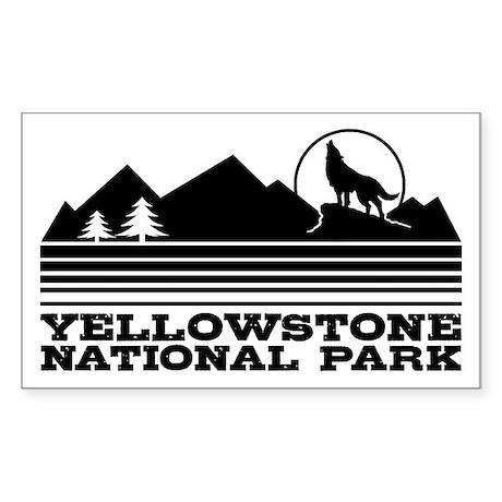 Yellowstone National Park Sticker (Rectangle)
