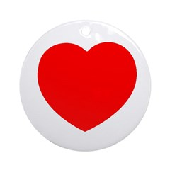 Classic Red Heart Ornament (Round)