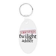 Certified Twilight Addict Aluminum Oval Keychain