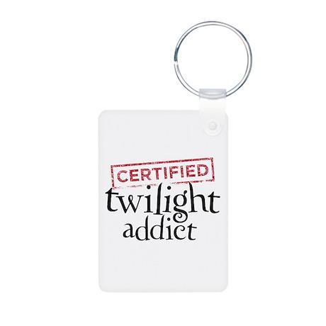 Certified Twilight Addict Aluminum Photo Keychain