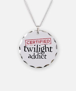 Certified Twilight Addict Necklace Circle Charm