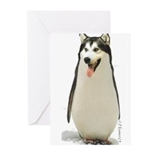 Malamute Penguin Greeting Cards (Pk of 20)