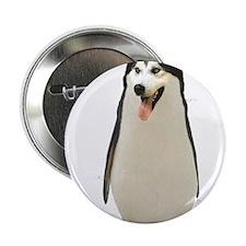"""Malamute Penguin 2.25"""" Button"""