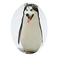Malamute Penguin Ornament (Oval)