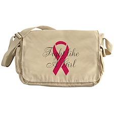 Fight Like A Girl Ribbon Messenger Bag